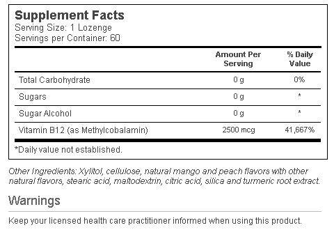 Methyl B-12 innhold