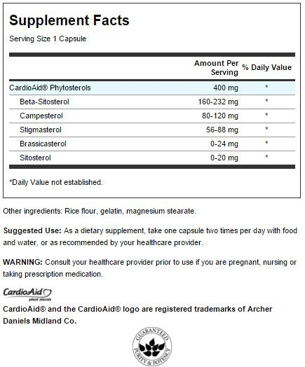 Plant Sterols CardioAid innhold