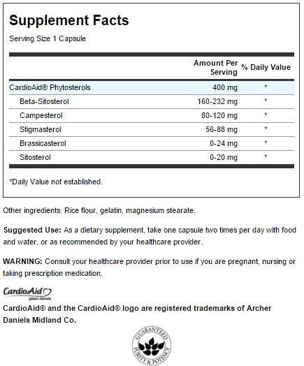 Plant Sterols CardioAid innhold