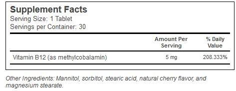 MethylCobalamin Source Naturals innhold