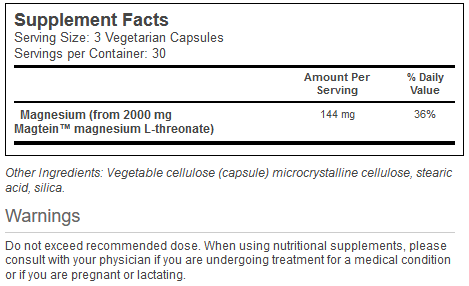 Neuro-Mag Magnesium L-Threonate innhold