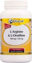 L-Arginine&L-Ornithine Vitacost