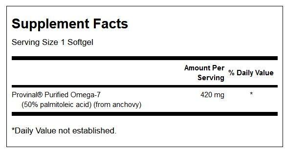 Provinal Purified Omega-7 innhold