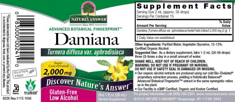 Damiana Nature`s Answer