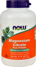 Magnesium Citrate pulver Now