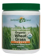 Amazing Organic Wheat Grass (Hvetegress) Powder - 8.5 oz
